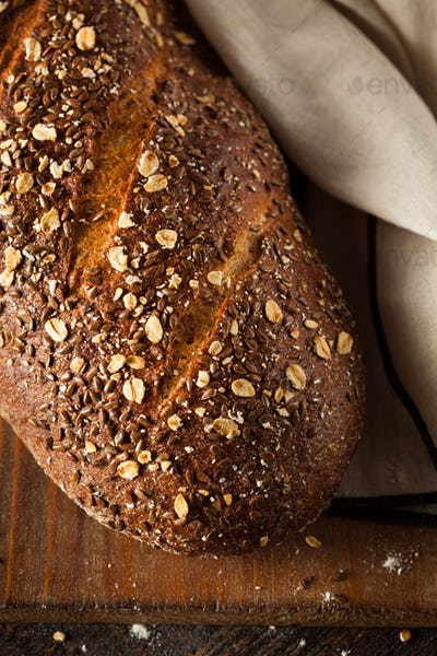 Organic Homemade Whole Wheat Bread