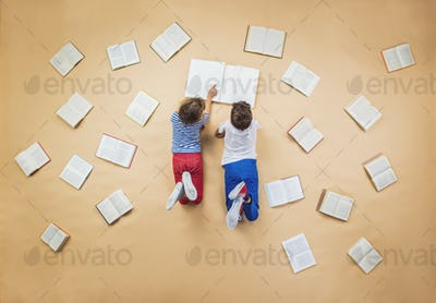 Children with books