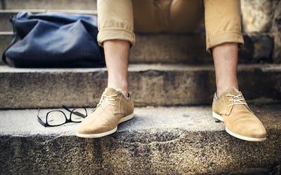 Detail of hipster man feet