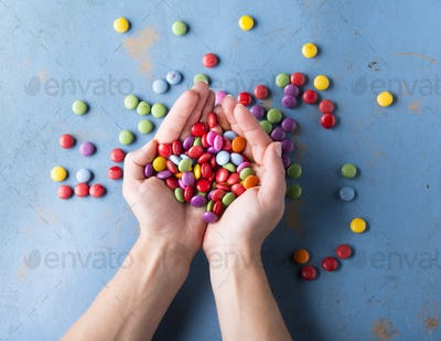Concept with candies