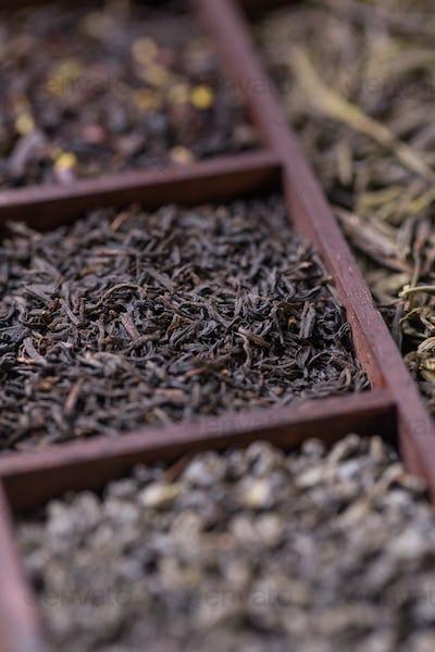 Dry tea in box