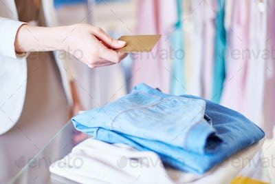 Paying for clothes