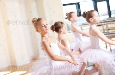 Little Ballerinas in Tutus at the Dance Training