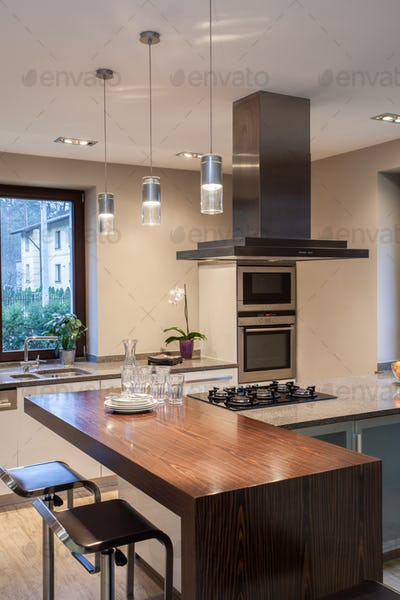 Travertine house - kitchen