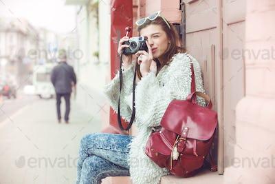 fashion women tourist