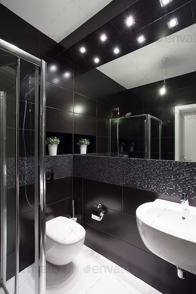 Modern design of bathroom