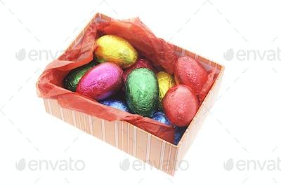 Easter Eggs in Gift Box