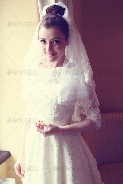 Bride in her wedding day