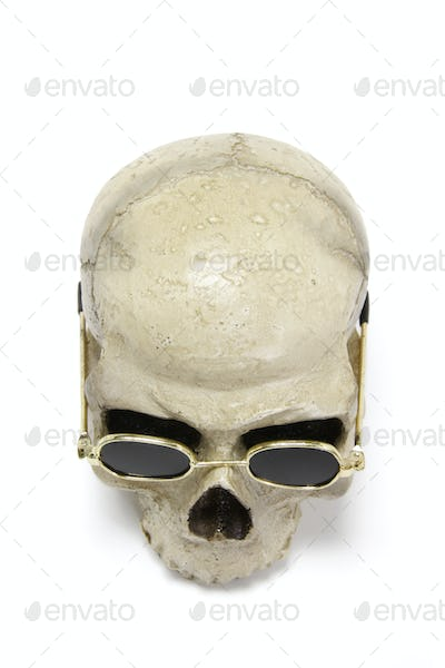 Skull with sun glasses
