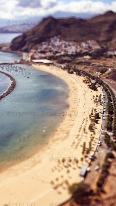 Top view of Tenerife Beach