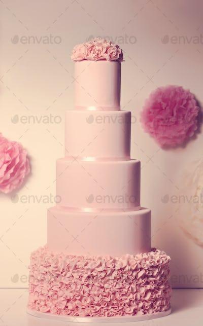 big marzipan wedding cake