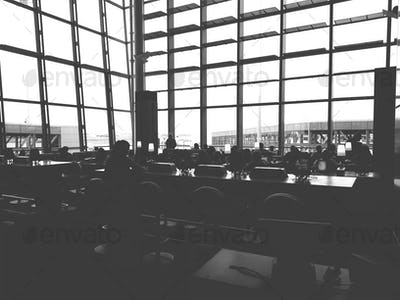 Toronto airport lounge