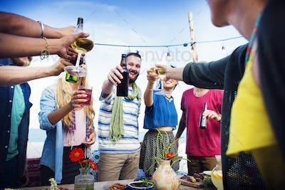 Beach Summer Dinner Party Celebration Concept