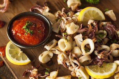 Homemade Fresh Grilled Calamari