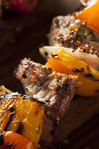 Homemade Grilled Steak and Veggie Shish Kebabs