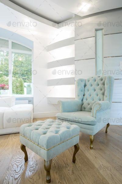 Vintage furniture inside crystal interior
