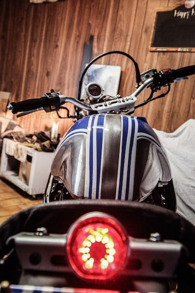 Rear View Of Motorcycle