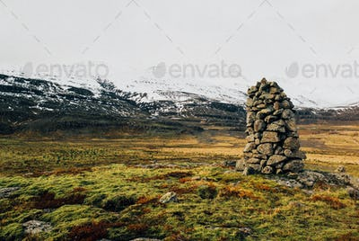 A pile of stone in the middle of nowhere