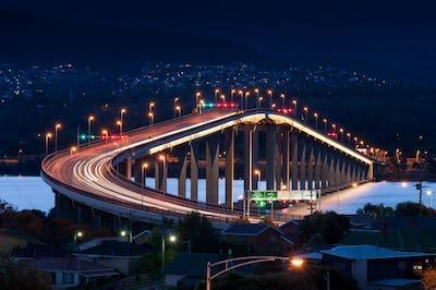Tasman Bridge at Night