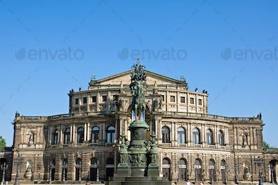 The famous Semper opera in Dresden