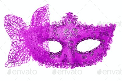 Carnival mask. Isolated on white background.