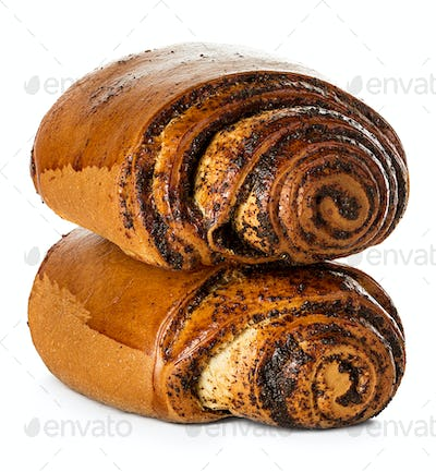 rolls, cakes with poppy seeds