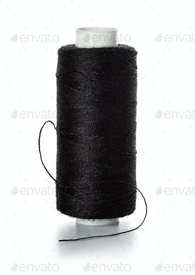 Skein of thread isolated on white