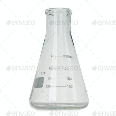 Test tube isolated on white background, laboratory glassware