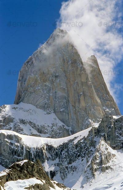 The peak of Mount Fitz Roy