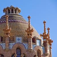 Detail of Hospital de la Santa Creu in Barcelona