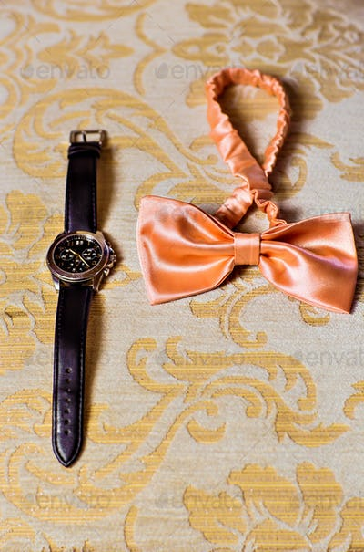 bow tie and watch