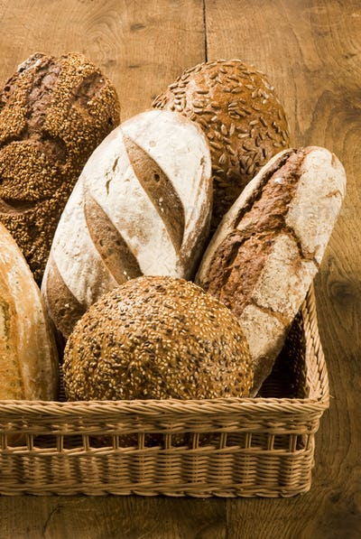 Bread loaves in a basket