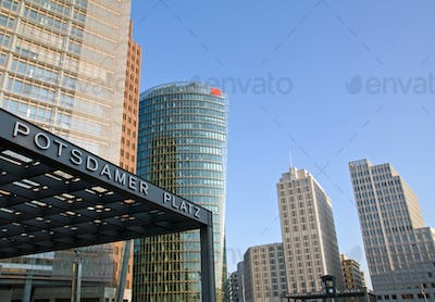 Potsdamer Platz in the early morning