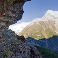 On the Europaweg in the swiss alps