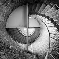 Spiral Staircase Metal Brick Architecture Historic Building Interior