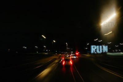 Run through the city.
