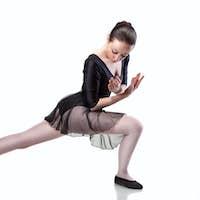 ballet dancer isolated on white