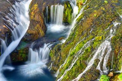 Detail of the Gjain valley, Iceland
