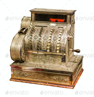Vintage old cash register