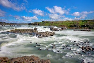 Urridafoss waterfall in Iceland