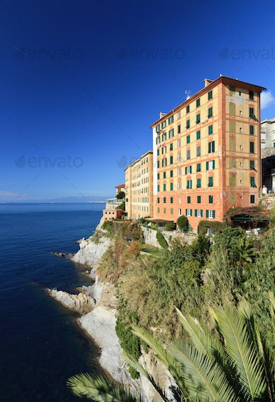 view in Camogli, Italy