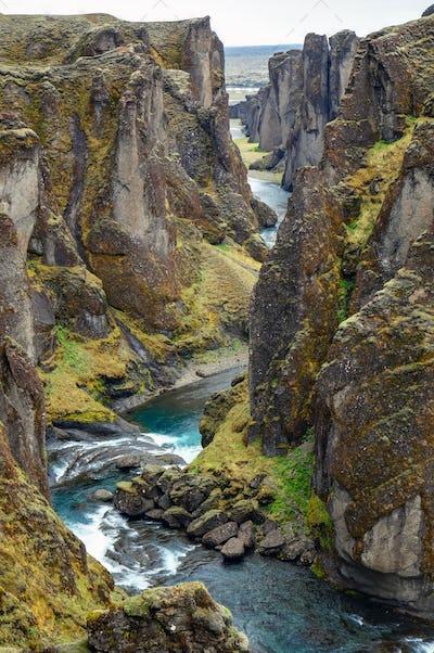 The Fjadrargljufur gorge in Iceland