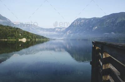 Peaceful morning at Bohinj Lake