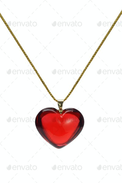 Love heart shape gemstone pendant