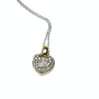 Heart shaped gemstones necklace