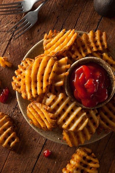 Crispy Homemade Waffles Fries