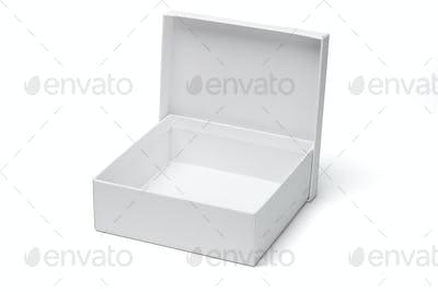 Open empty white gift box