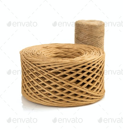 roll of twine cord and thread  on white