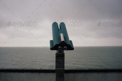 telescope on a rainy day