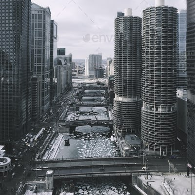 Chicago Cityscape in the Winter